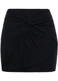 Iro Woman Baveti Twisted Cotton And Modal-blend Mini Skirt Black