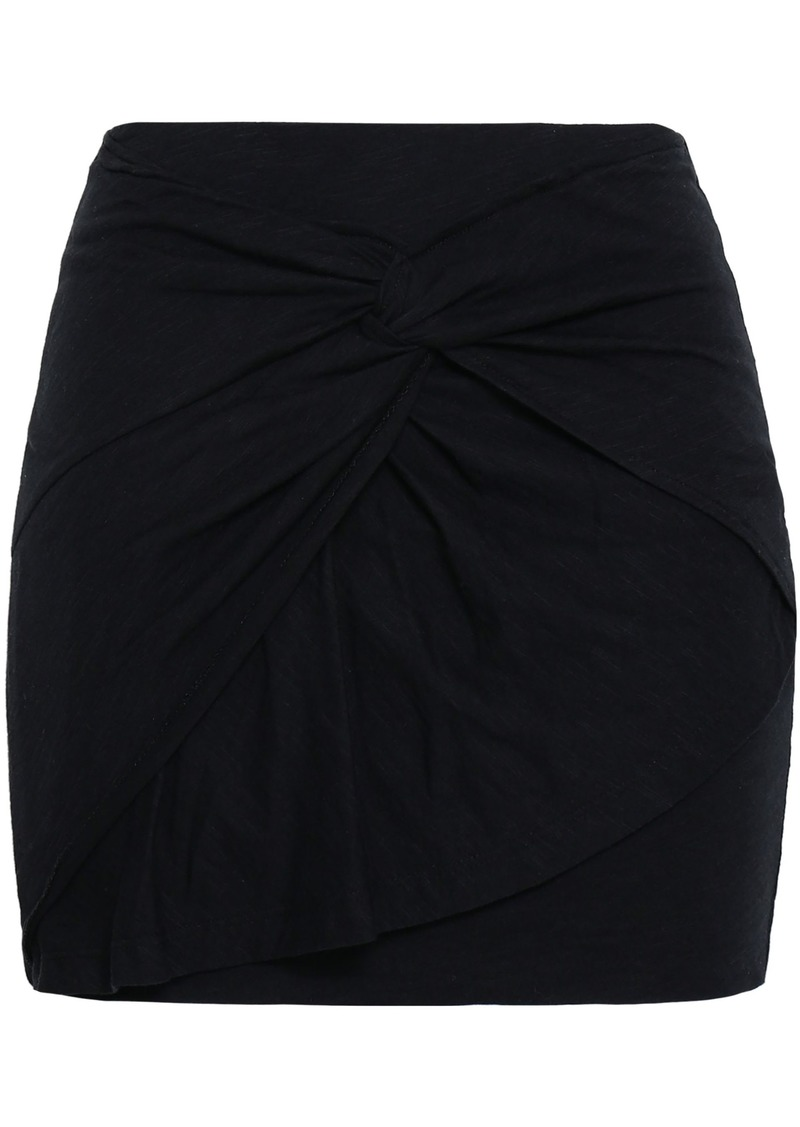 Iro Woman Baveti Twisted Cotton And Modal-blend Mini Skirt Black