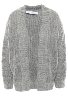 Iro Woman Beatnik Mélange Knitted Cardigan Light Gray