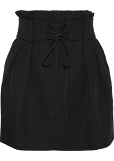 Iro Woman Lamila Lace-up Cady Mini Skirt Black