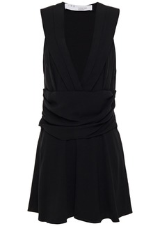 Iro Woman Biron Gathered Crepe Mini Dress Black