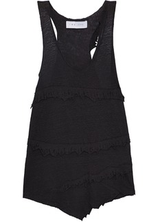 Iro Woman Boham Distressed Slub Linen-jersey Tank Black