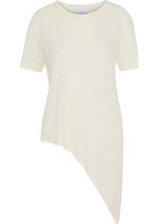 Iro Woman Brasover Asymmetric Linen T-shirt Ivory