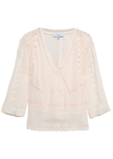 Iro Woman Broderie Anglaise Crepe Blouse Pastel Pink