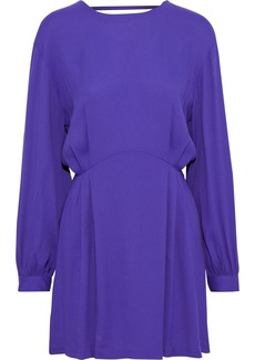 Iro Woman Broken Open-back Crepe Mini Dress Purple