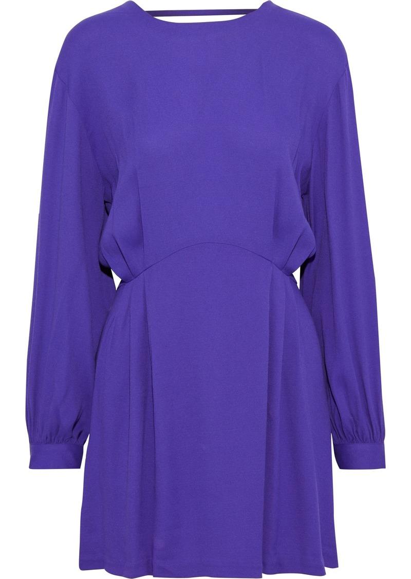 Iro Woman Broken Open-back Crepe Mini Dress Purple