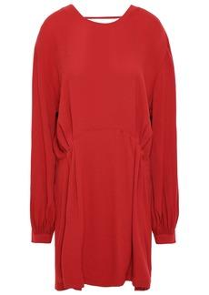 Iro Woman Broken Open-back Crepe Mini Dress Red