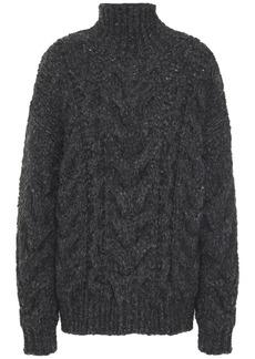 Iro Woman Cable-knit Turtleneck Sweater Dark Gray