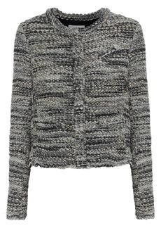 Iro Woman Carene Bouclé-knit Jacket Anthracite