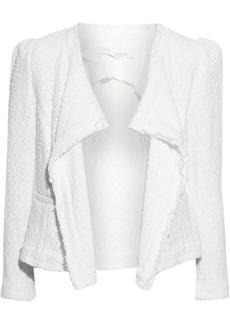 Iro Woman Carta Frayed Cotton-blend Bouclé Jacket White