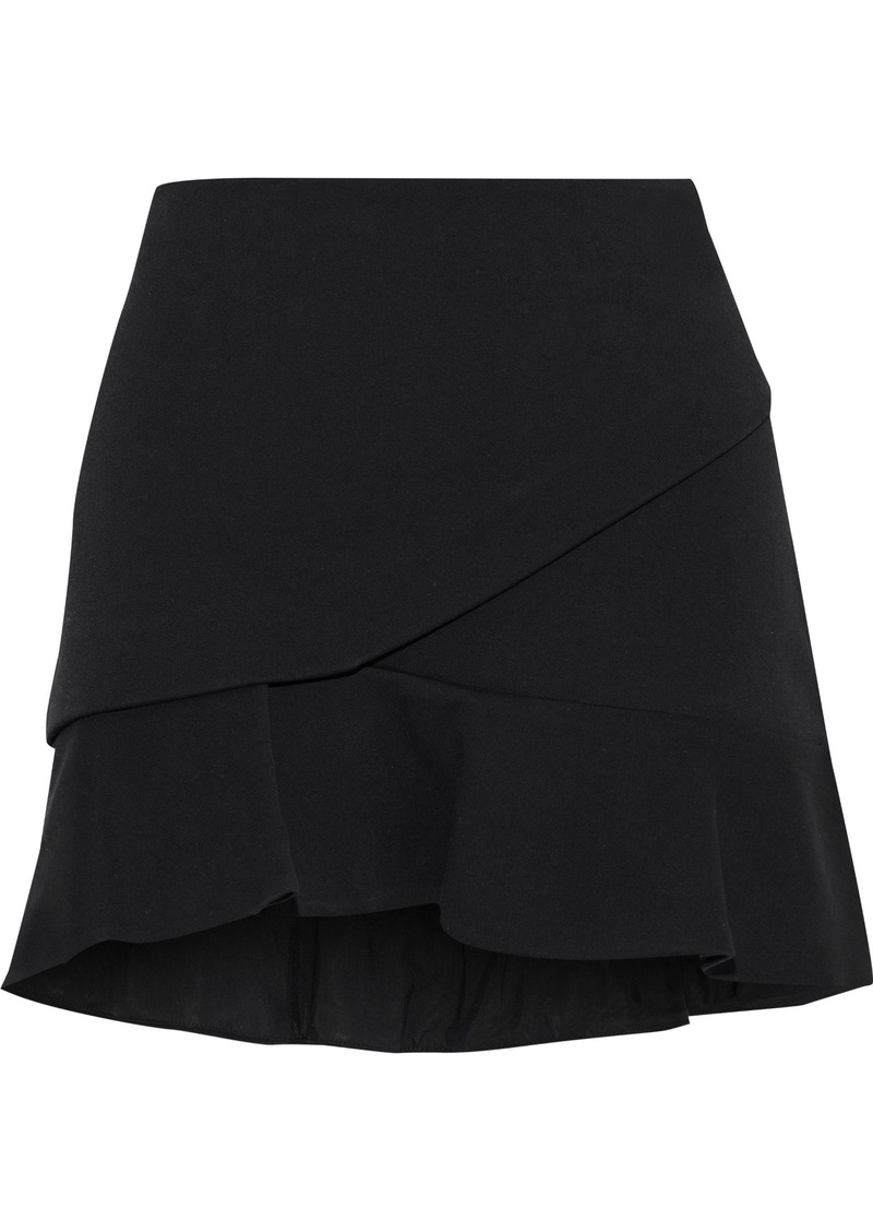 Iro Woman Cavane Fluted Cotton-blend Mini Skirt Black