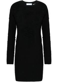 Iro Woman Cevoc Distressed French Cotton-blend Terry Mini Dress Black
