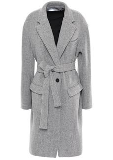 Iro Woman Charade Belted Wool-blend Coat Stone