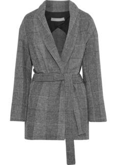 Iro Woman Checked Woven Coat Gray