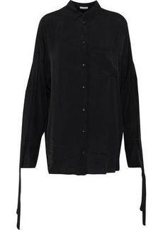 Iro Woman Cobi Knotted Woven Shirt Black