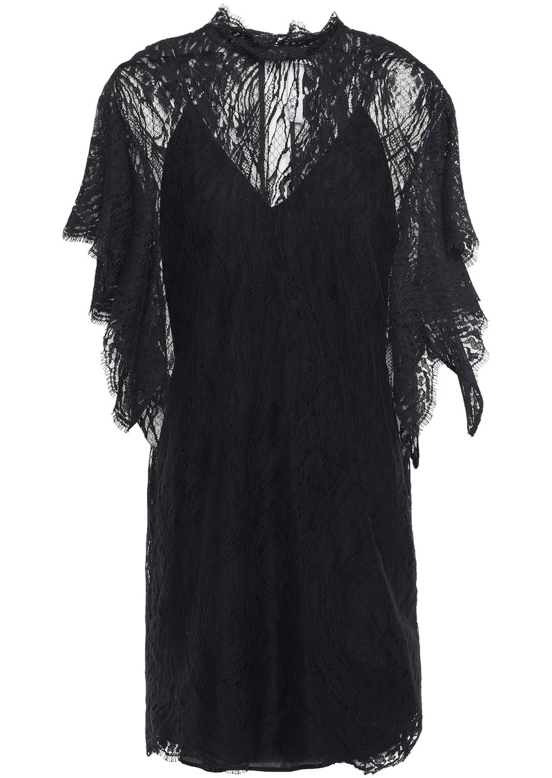 Iro Woman Coliseum Cotton-blend Lace Mini Dress Black