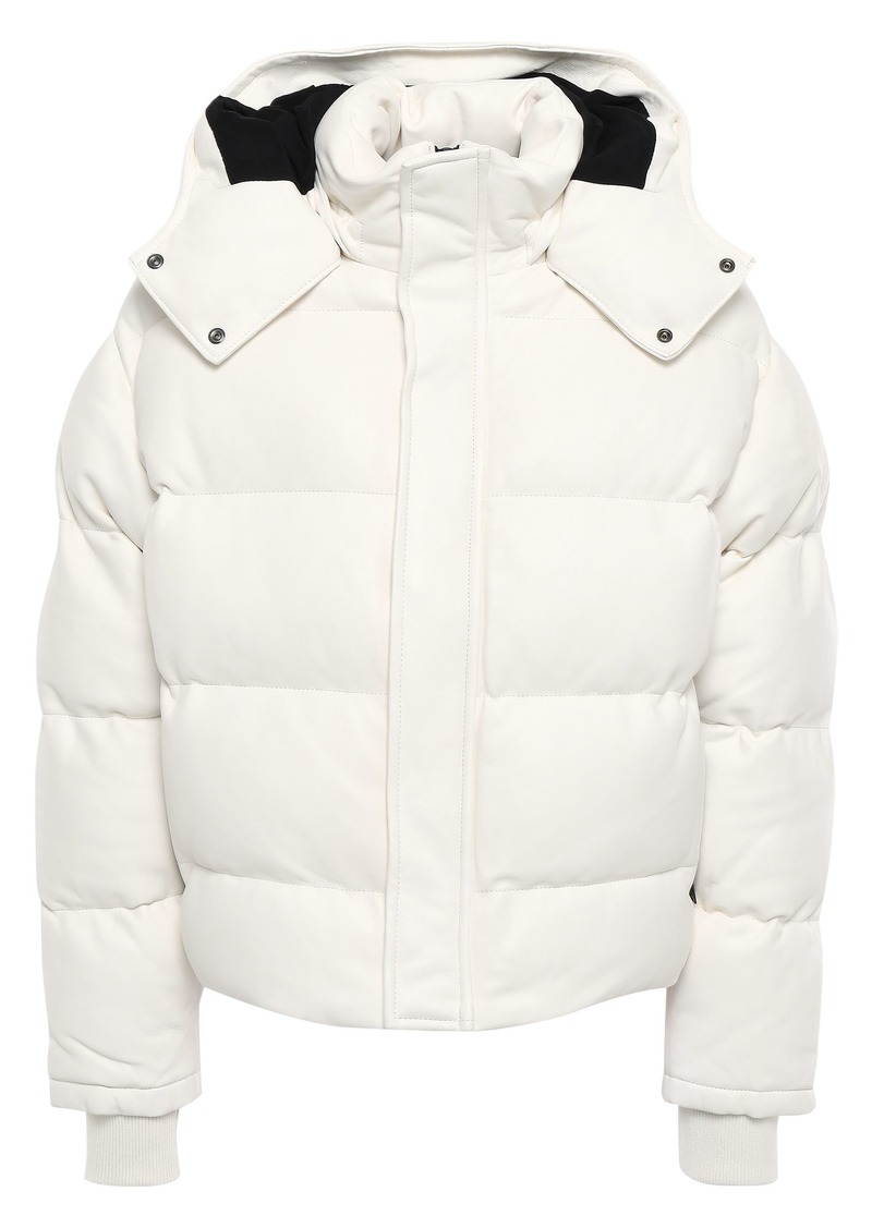 Iro Woman Collyn Quilted Leather Hooded Coat White
