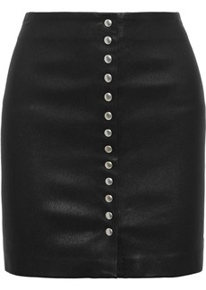 Iro Woman Costa Leather Mini Skirt Black