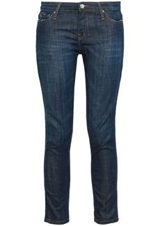 Iro Woman Cropped Low-rise Slim-leg Jeans Dark Denim