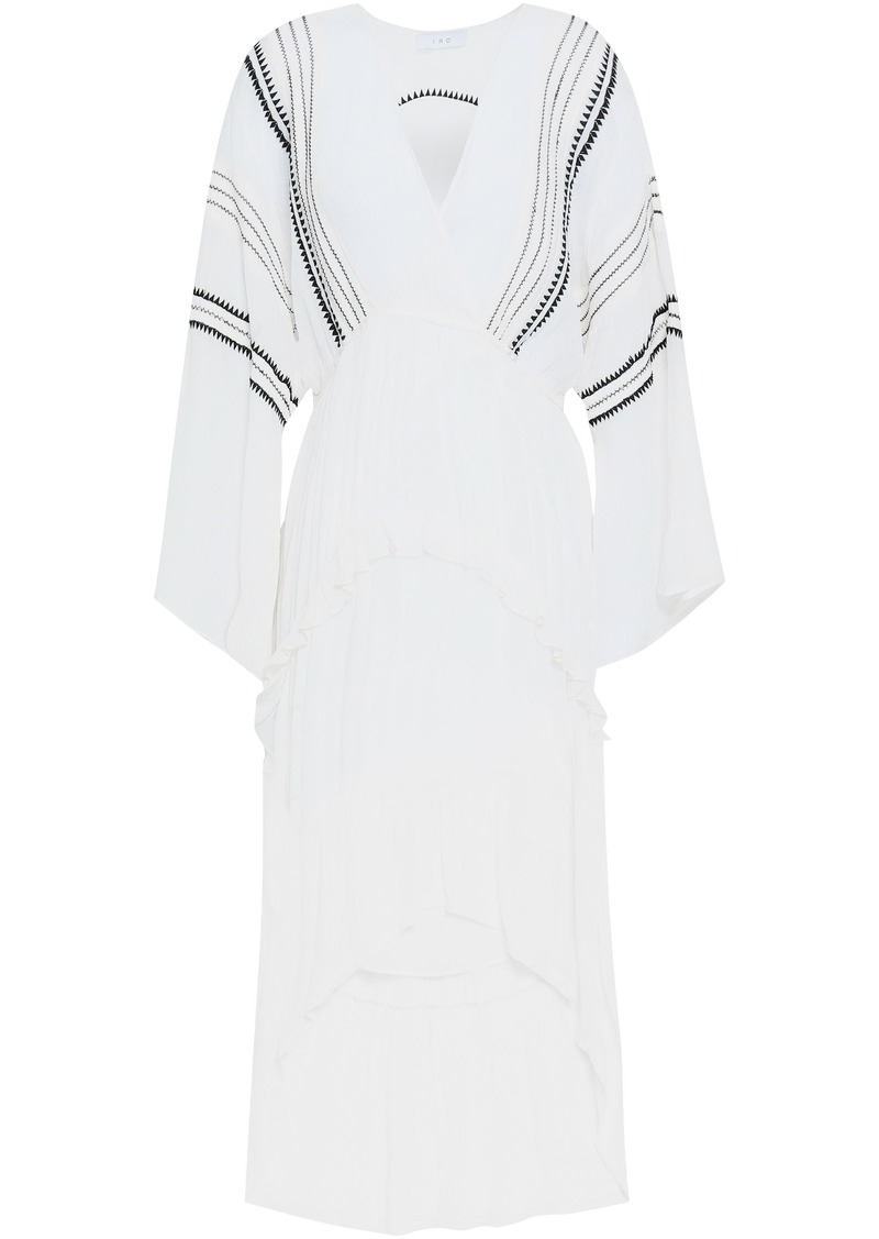 Iro Woman Cutout Embroidered Georgette Kaftan White