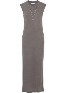 a8680b0812f Iro Woman Daisy Lace-up Slub Linen-jersey Maxi Dress Gray