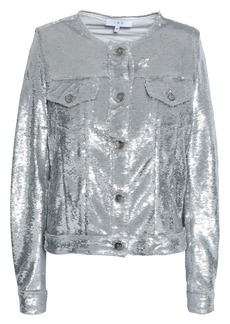 Iro Woman Dalome Sequined Woven Jacket Silver