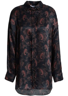 Iro Woman Delta Printed Satin Shirt Black