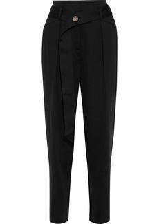 Iro Woman Desiring Belted Twill Straight-leg Pants Black