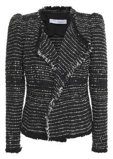 Iro Woman Diana Metallic Cotton-blend Tweed Jacket Black