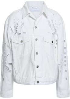 Iro Woman Dinard Broderie Anglaise Denim Jacket White
