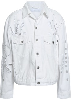 Iro Woman Dinard Broderie Anglaise Denim Jacket White