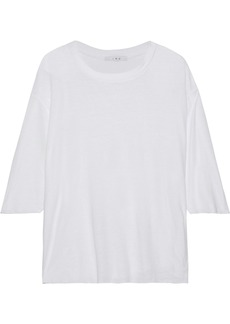 Iro Woman Diro Slub Cotton And Linen-blend Jersey Top White