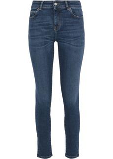 Iro Woman Distressed Mid-rise Skinny Jeans Mid Denim