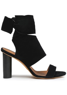 Iro Woman Ditta Bow-detailed Suede Sandals Black