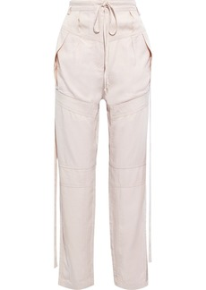Iro Woman Dolci Belted Tencel-twill Tapered Pants Blush
