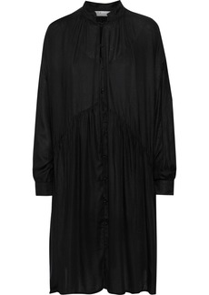 Iro Woman Dolls Tie-neck Gathered Modal-twill Dress Black