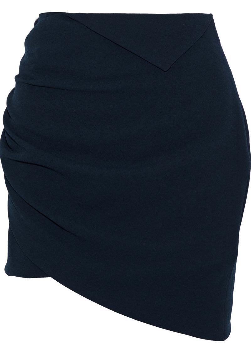 Iro Woman Dorio Wrap-effect Crepe Mini Skirt Navy