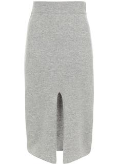 Iro Woman Dorset Split-front Merino Wool And Cashmere-blend Skirt Gray