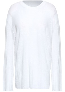 Iro Woman Douen Slub Cotton And Linen-blend Jersey Top White