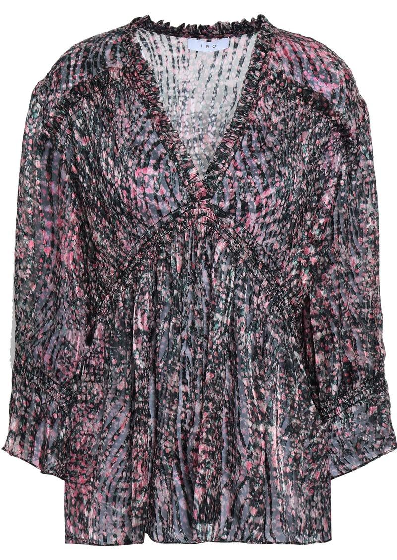 Iro Woman Eileen Printed Devoré-velvet Blouse Pink