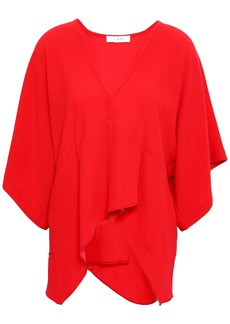 Iro Woman Ekala Draped Crepe De Chine Top Red