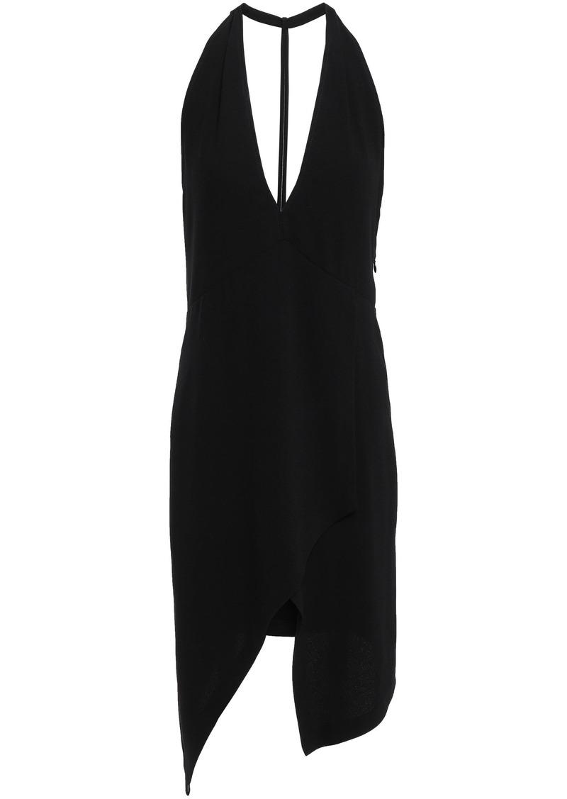 Iro Woman Ekioti Asymmetric Open-back Crepe Mini Dress Black