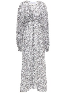 Iro Woman Elea Ruffle-trimmed Printed Gauze Midi Dress White