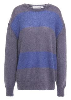 Iro Woman Elkins Striped Mohair-blend Sweater Storm Blue