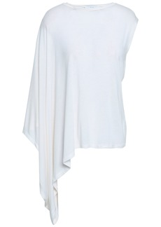 Iro Woman Eloaz Draped Stretch-jersey Top White