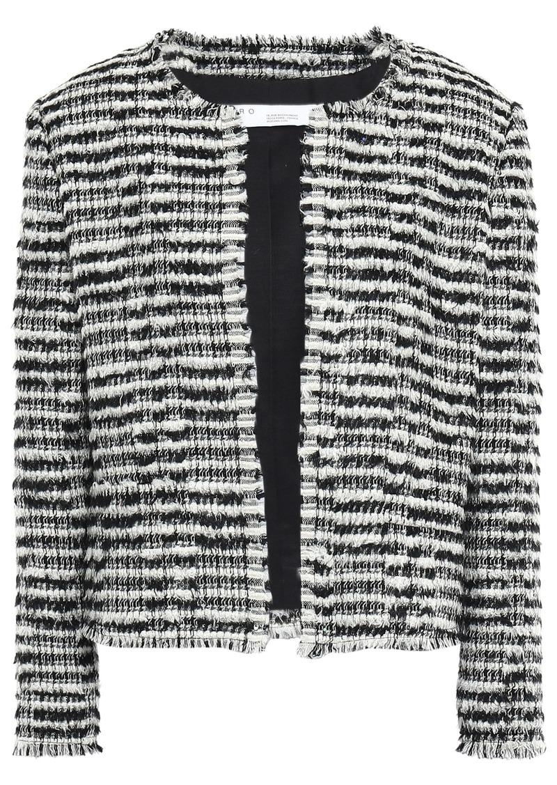 Iro Woman Emotion Wool-blend Bouclé-tweed Jacket Black
