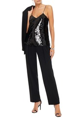 Iro Woman Erna Sequined Georgette Camisole Black