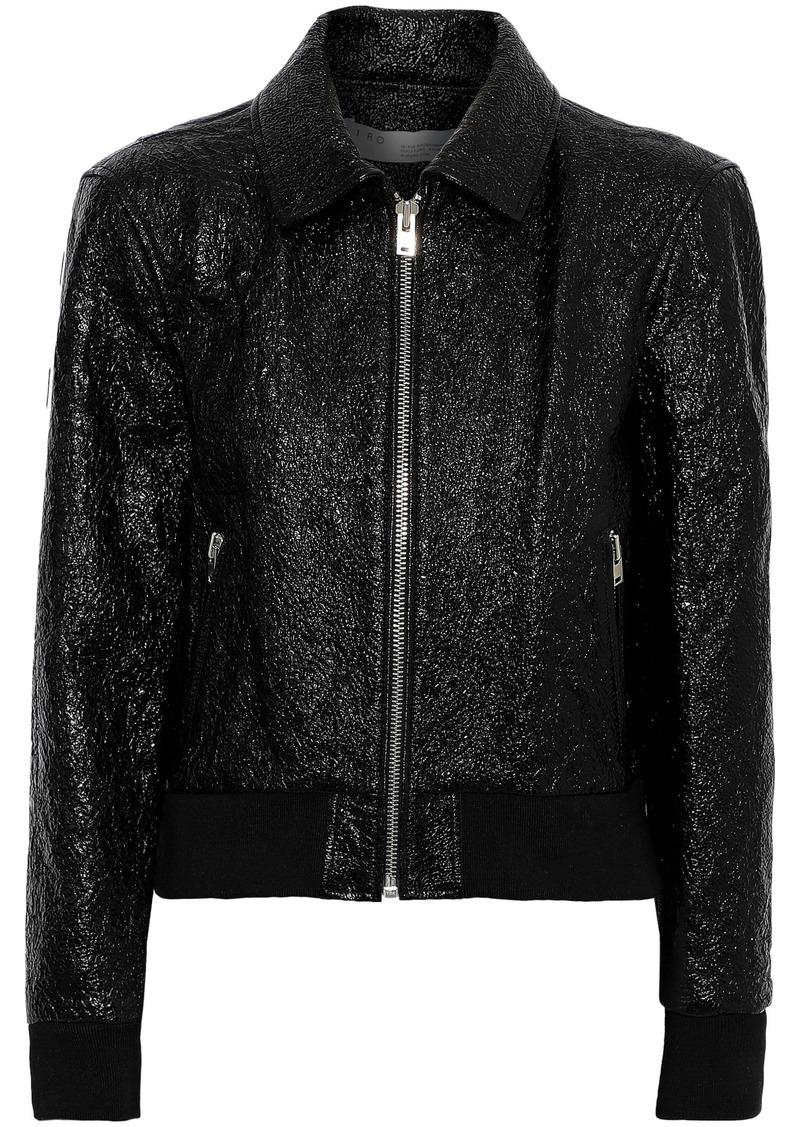 Iro Woman Faces Cracked Patent-leather Jacket Black