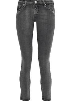 Iro Woman Alyson Low-rise Cropped Skinny Jeans Dark Gray