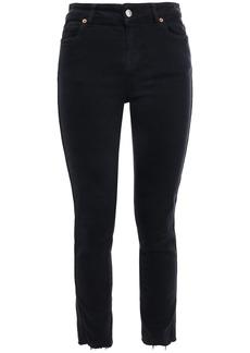 Iro Woman Fragile Frayed Mid-rise Skinny Jeans Black